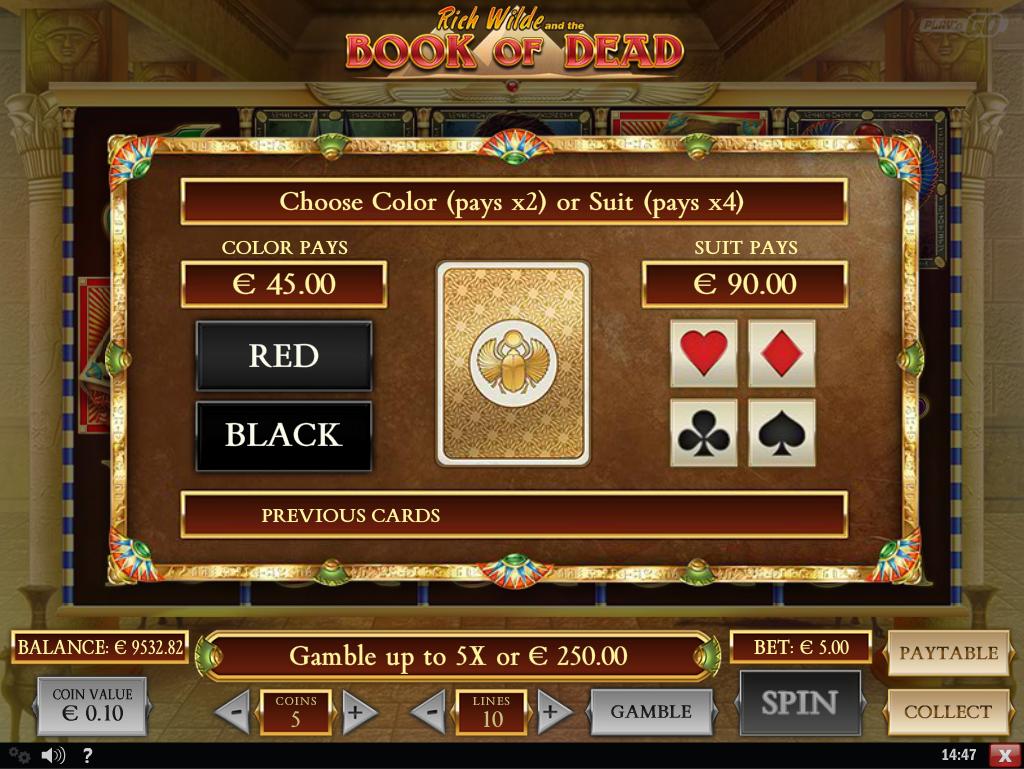 book of dead slot gamble