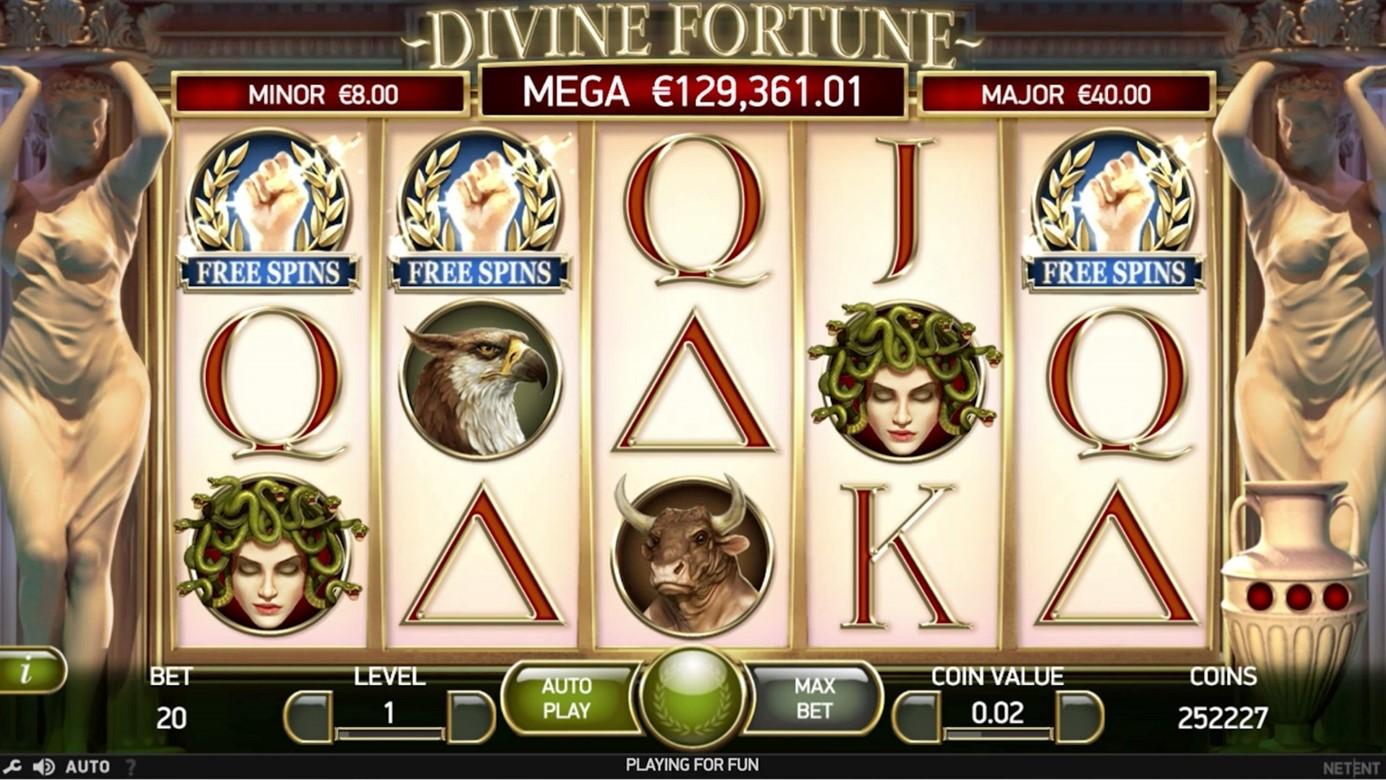 Divine Fortune slot free spins