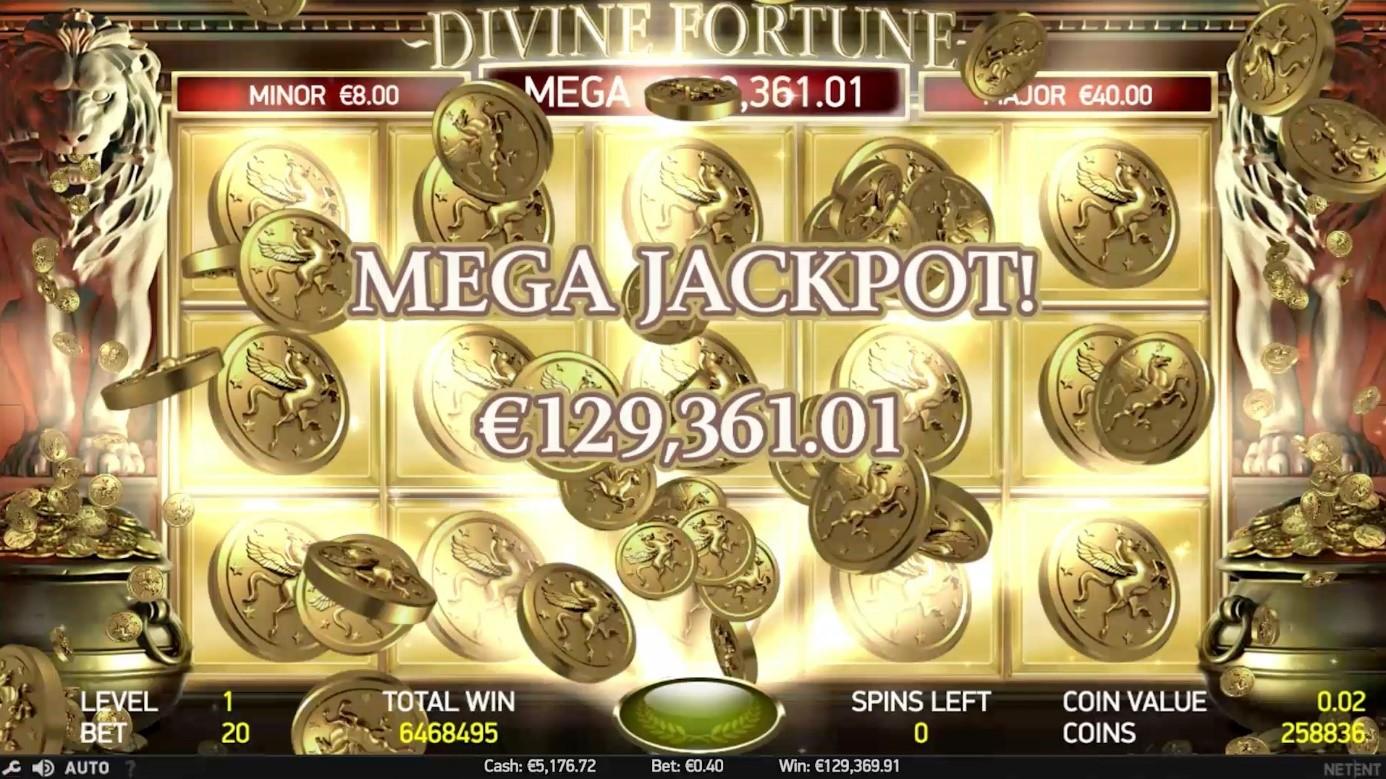 Divine Fortune slot jackpot