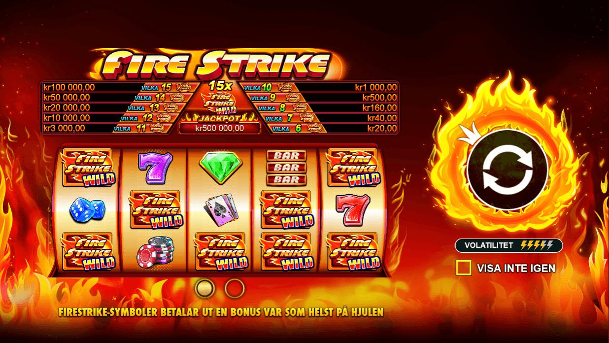 Pragmatic Play Fire Strike slot funktioner