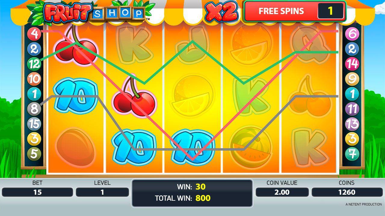 Fruit Shop slot free spins