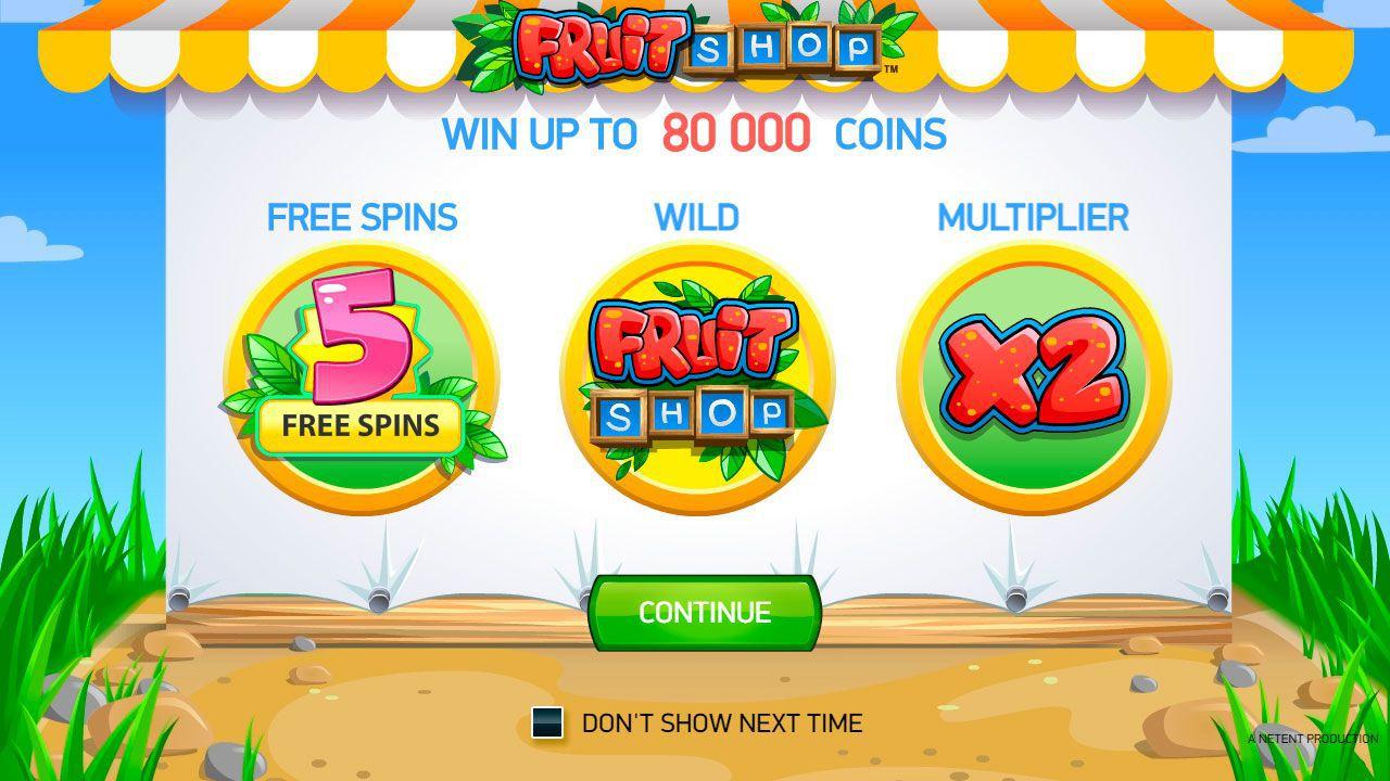 NetEnt Fruit Shop slot bonus