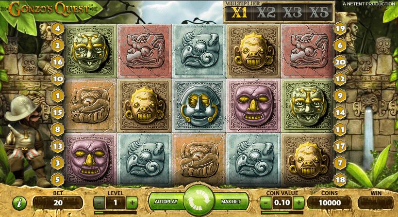 Spela Gonzos Quest slot
