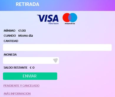 Elige el monto a retirar en UZU con tarjeta debito