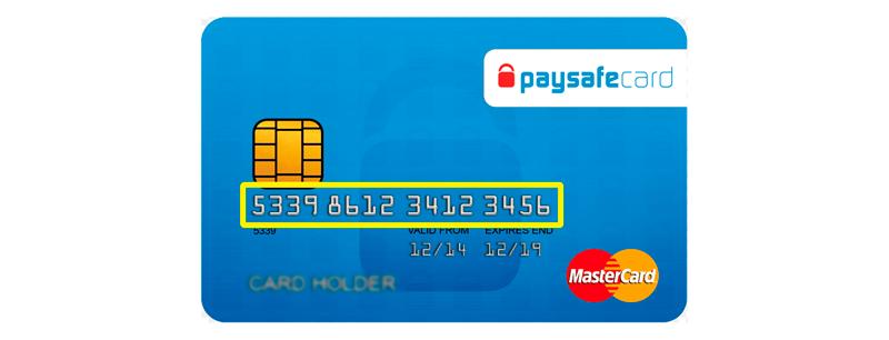 Frente de tarjeta paysafecard
