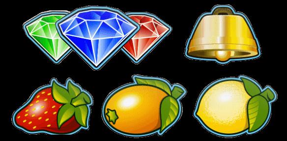 Los símbolos del nivel inferior de la slot El Dioni