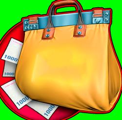 La saca de dinero:accede al nivel superior