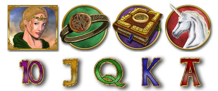 Los símbolos del juego Magic Mirror Deluxe 2