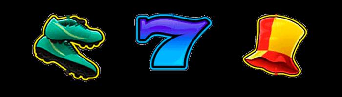 Los símbolos del juego superior de Manolo el del Bombo