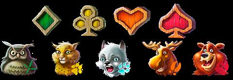 Simbolos de la slot Wolf Cub