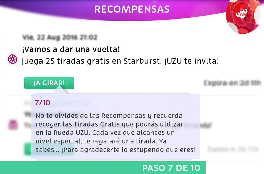 Tour de UZU: Recompensas