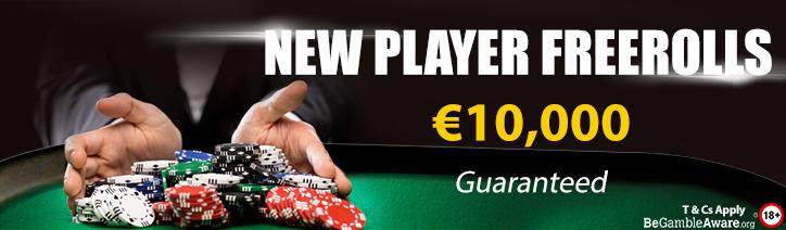 €10,000 New Player Freerolls